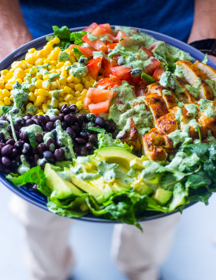 South Western Chicken Salad with Cilantro dressing day 3 diet plan
