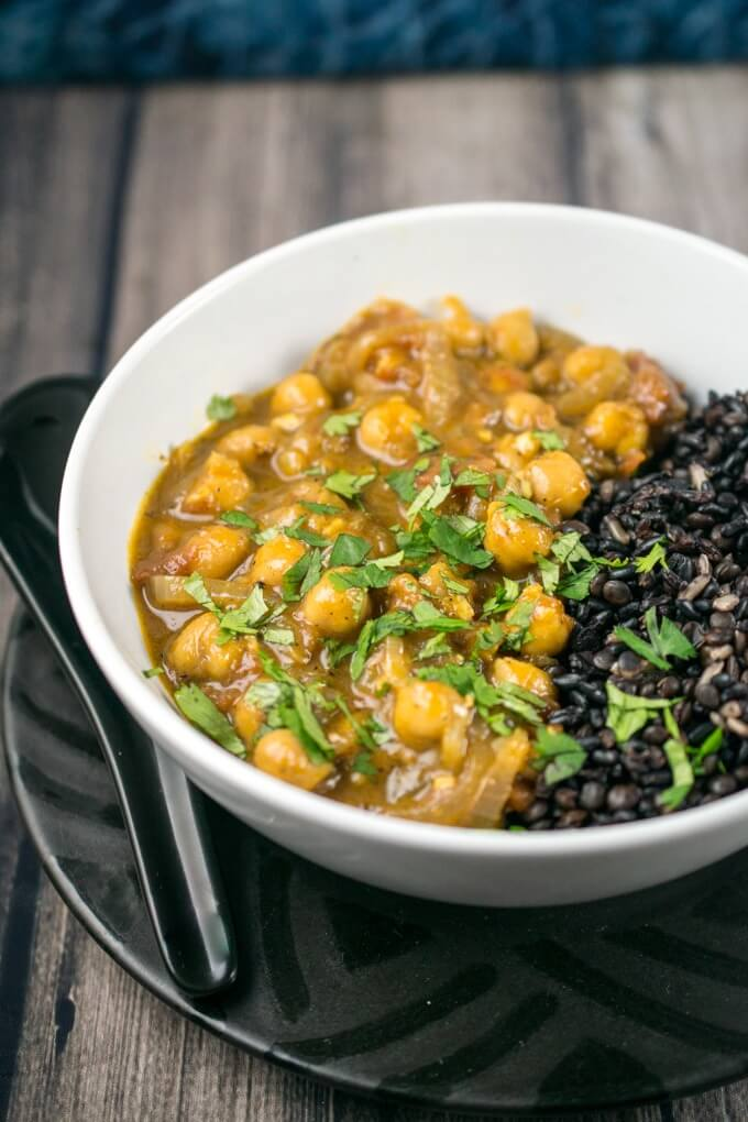 coconut chickpea curry vegan Day 2 diet plan
