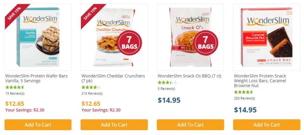 WonderSlim Protein Diet Snacks